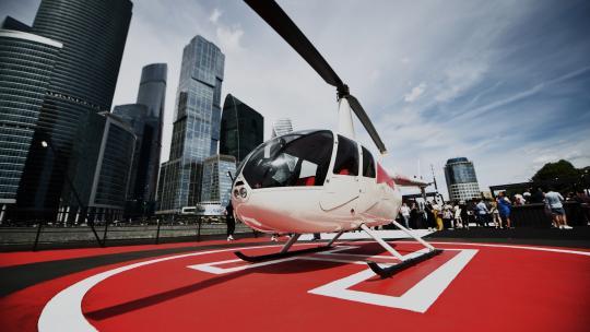 Helikopter op de boot