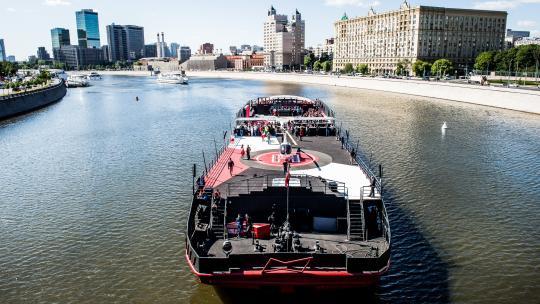 BudBoat in Moskou