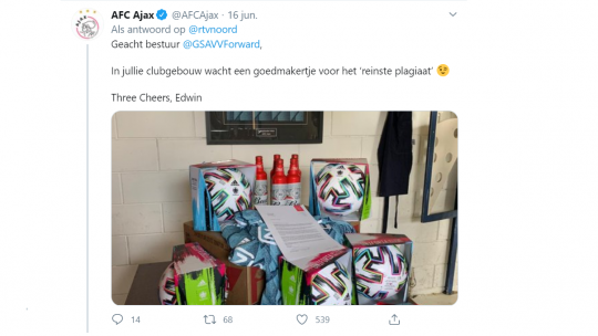 reactie Ajax