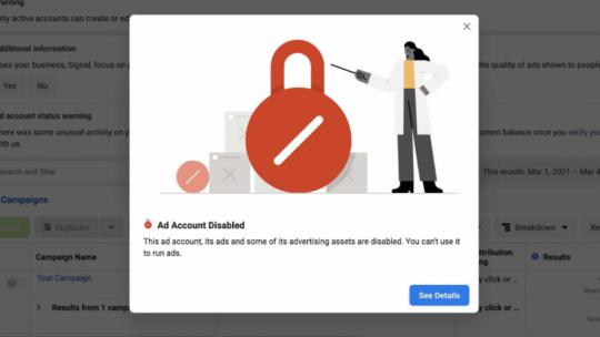 Signal-account disabled door facebook