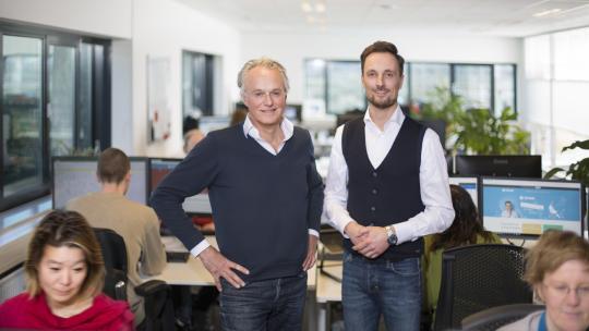 Niels  van Buren (r) en Paul Malschaert