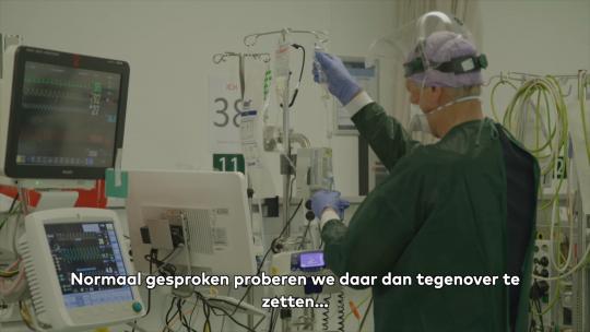 Beeld uit voorlichtingsfilm Zuyderland over palliatieve zorg tijdens Corona