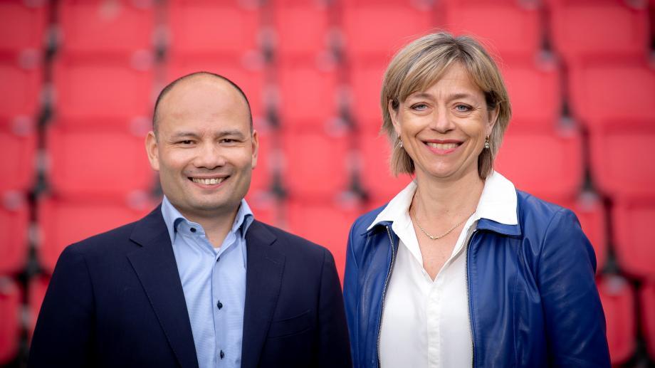Steve Klink en Nanda Huizing