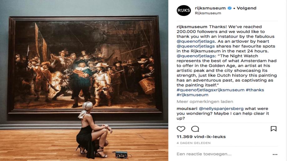 Instagram Rijksmuseum