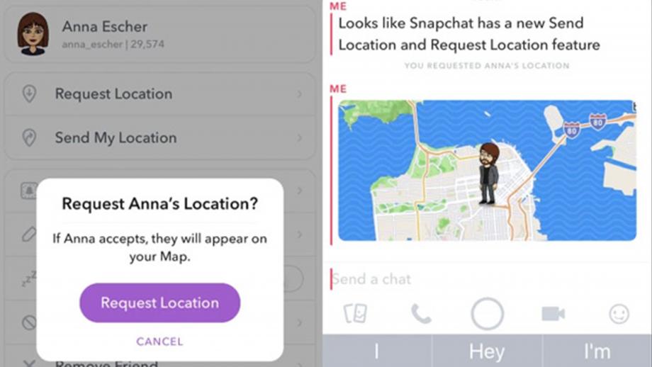 Snapchat locatie
