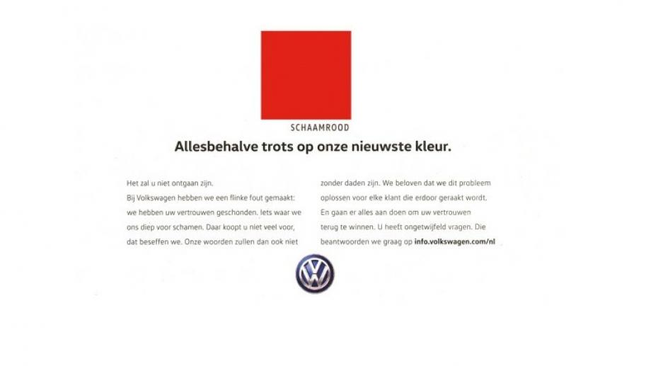 'Schaamrood'-advertentie VW