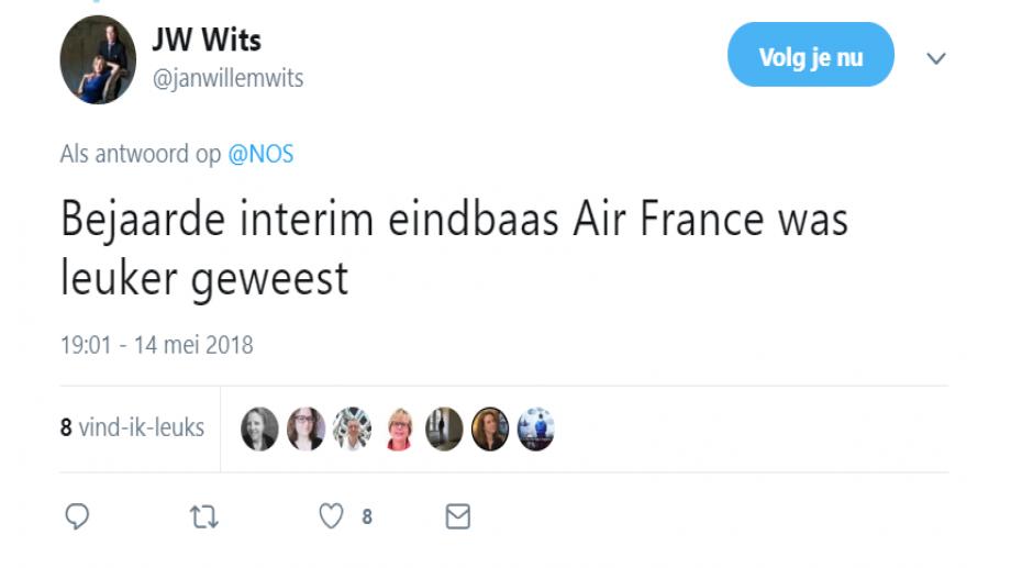 Tweet over NOS-bericht