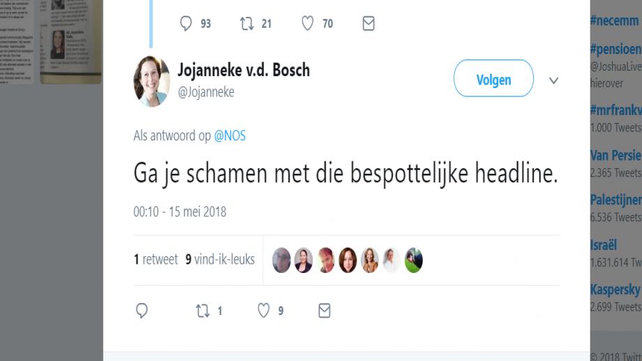 NOS-bericht KLM