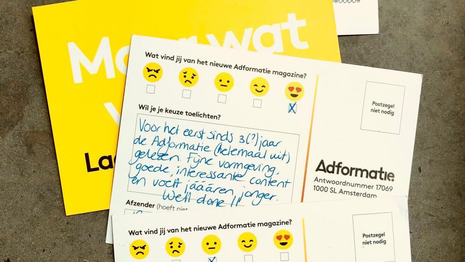 antwoordkaarten adformatie