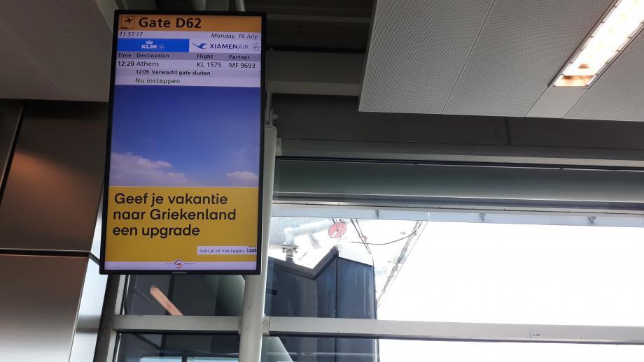 Lotto-reclame op Schiphol