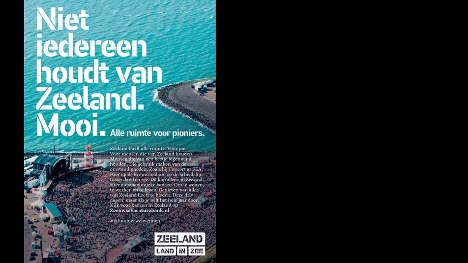 Niet iedereen houdt van Zeeland. Mooi.