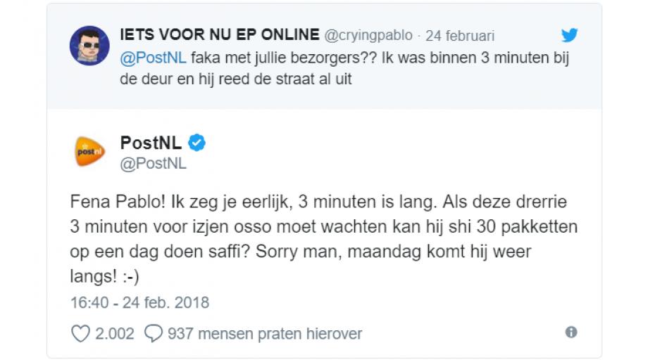 PostNL straattaal