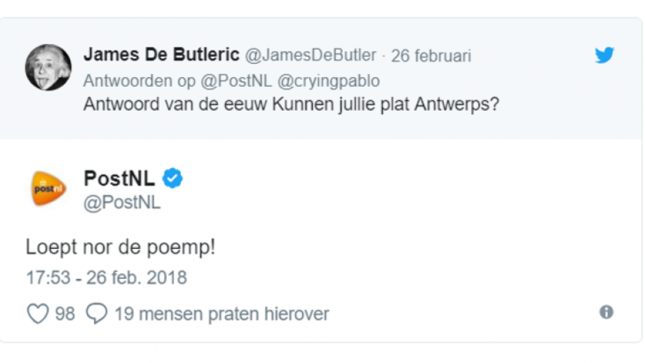PostNL antwerps