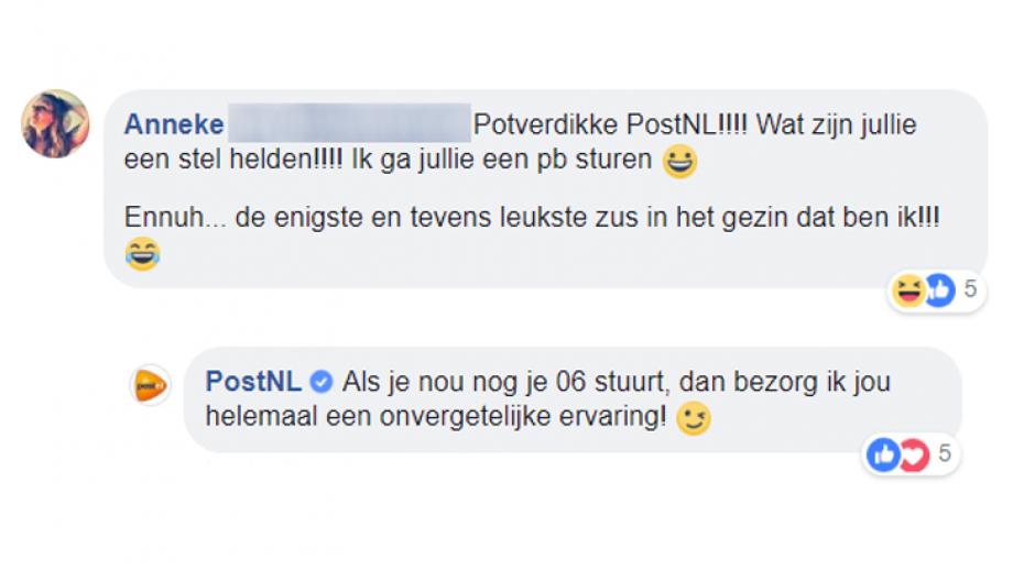 Reactie van PostNL
