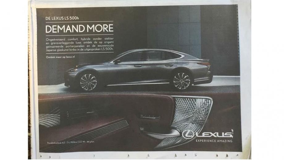 Lexus dagbladadvertentie