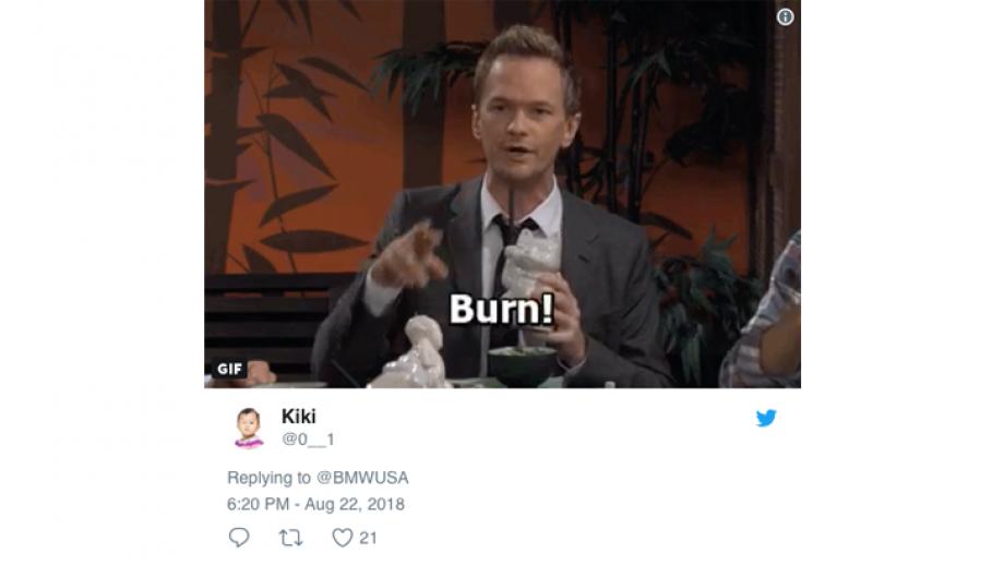 Twitter reactie