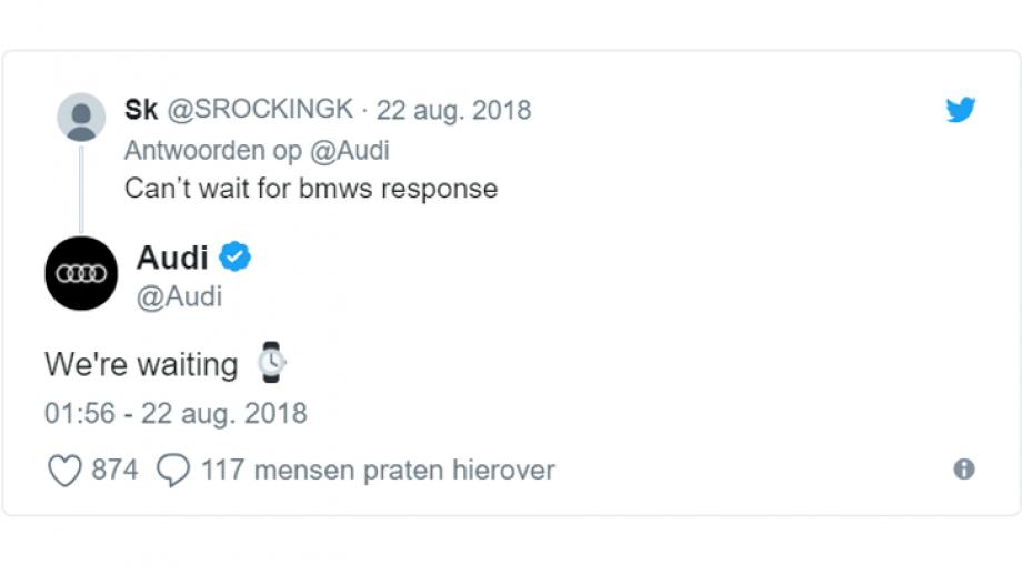 Audi reactie
