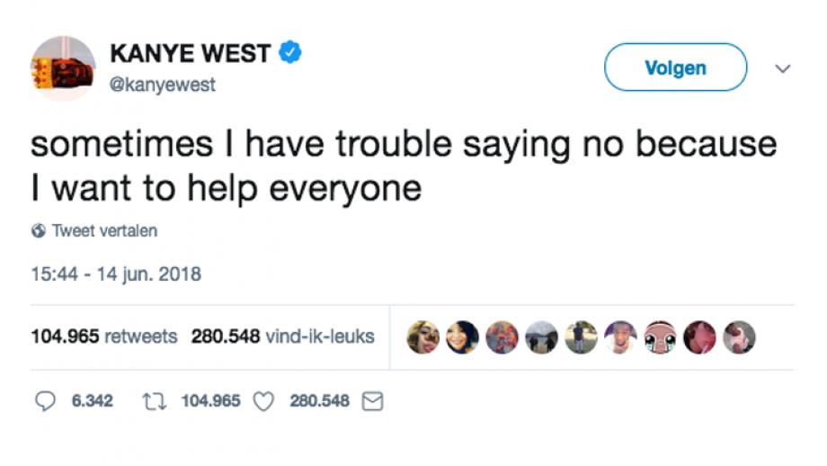 Tweet Kayne West