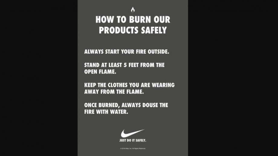 Nike waarschuwing
