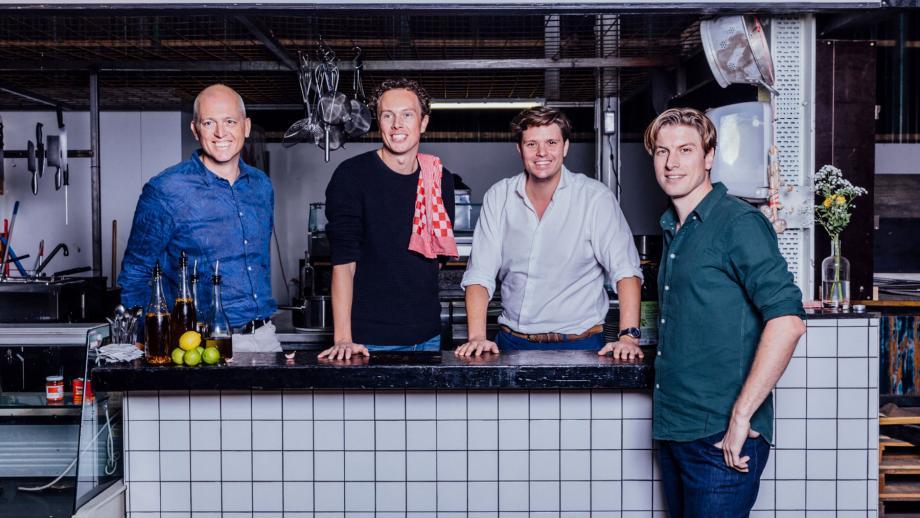V.l.n.r.: René Bink, Tom Peeters, Michiel Roodenburg en Erik Klaassen