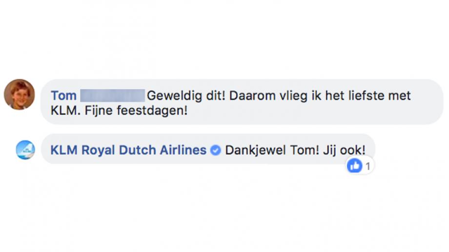 Reactie op KLM