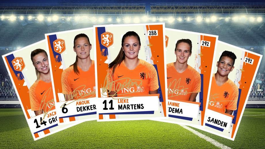 Voetbalplaatjes Nederlands Dameselftal 2019