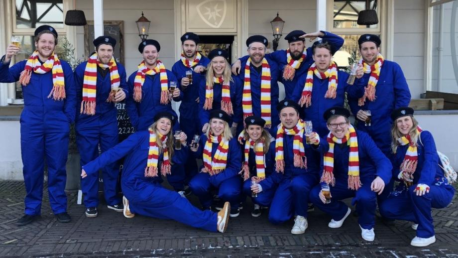 Wiese: 'Dit was een foto van ons in Den Bosch. We gaven het hele bureau carnavalvrij.'