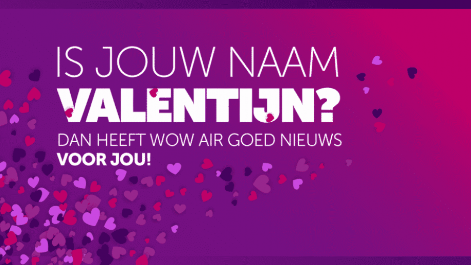 Valentijnsactie voor alle 'Valentijns'