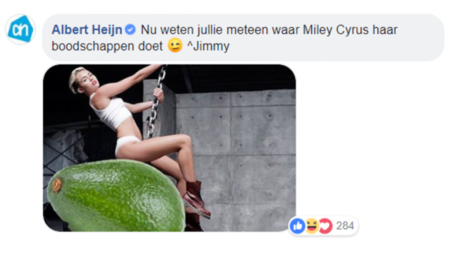 Reactie Albert Heijn
