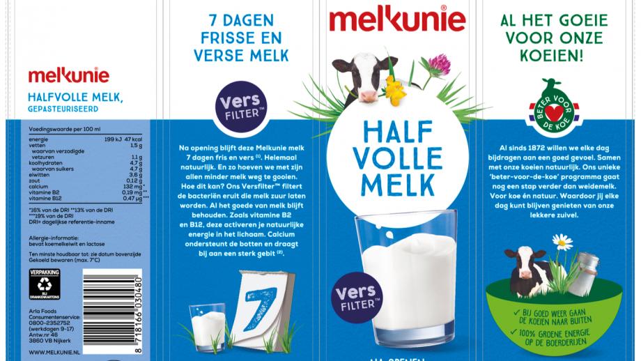 Fragment van het nieuwe melkpak
