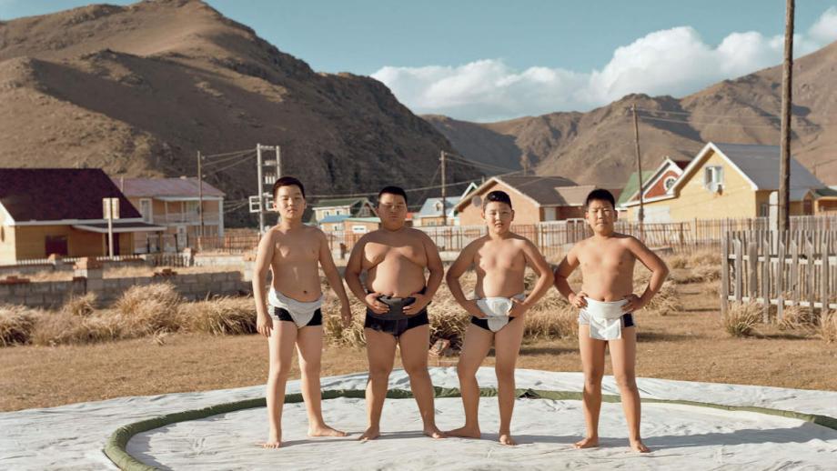 Sumoworstelaars uit Mongolië