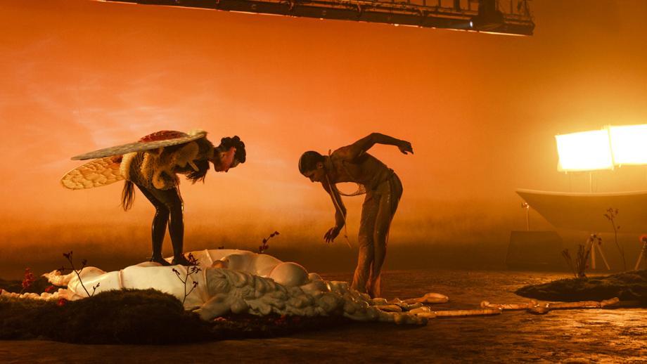 behind the scenes-beelden videoclip Björk