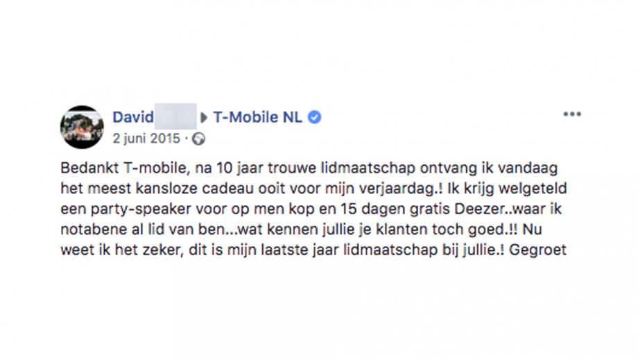 T-Mobile reactie
