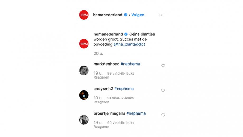 Hema hashtag