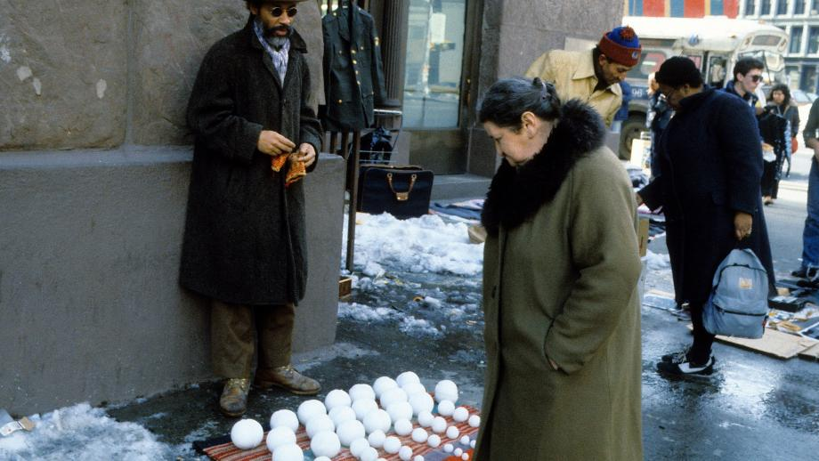 #7: David Hammons - Bliz-aard Ball Sale | Photo by Dawoud Bey Courtesy Tilton Gallery, New York