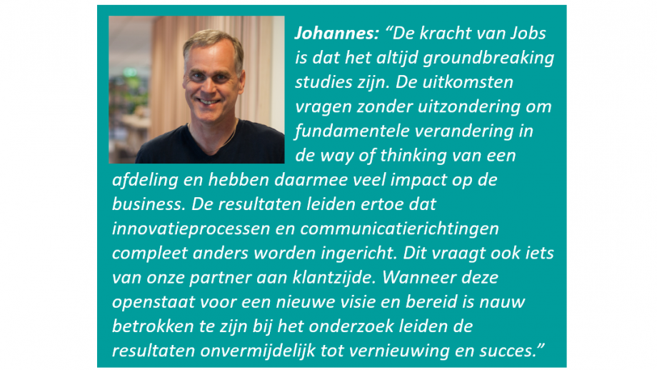 Johannes Hartmann over Jobs to be Done