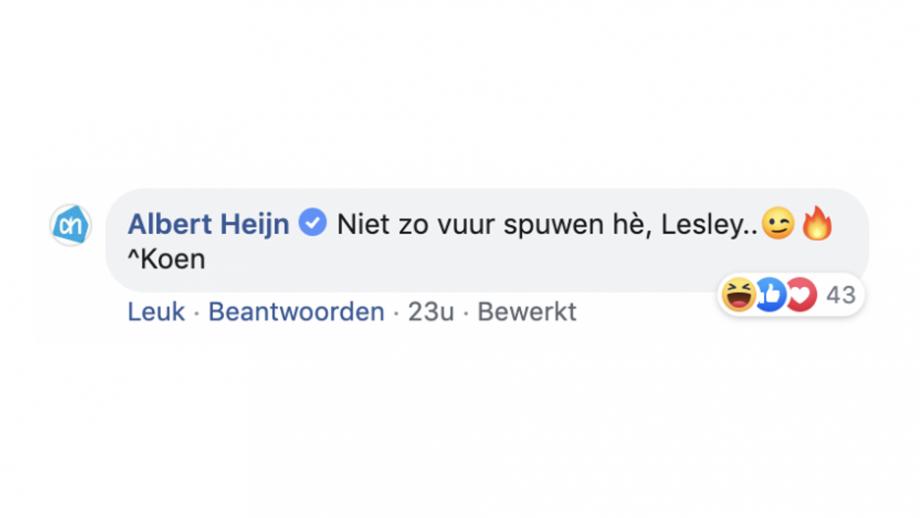 Albert Heijn reactie