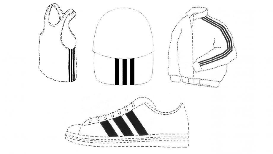 Enkele voorbeelden van andere merkregistraties van adidas, ruim voldoende om de aanhakers op afstand te houden