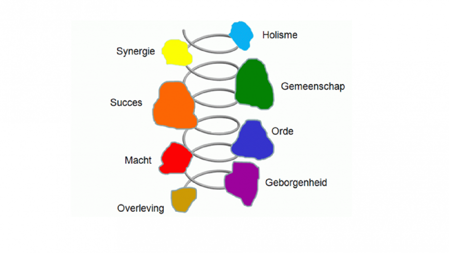 Afbeelding x: De ontwikkelstadia van Graves (Spiral dynamics)