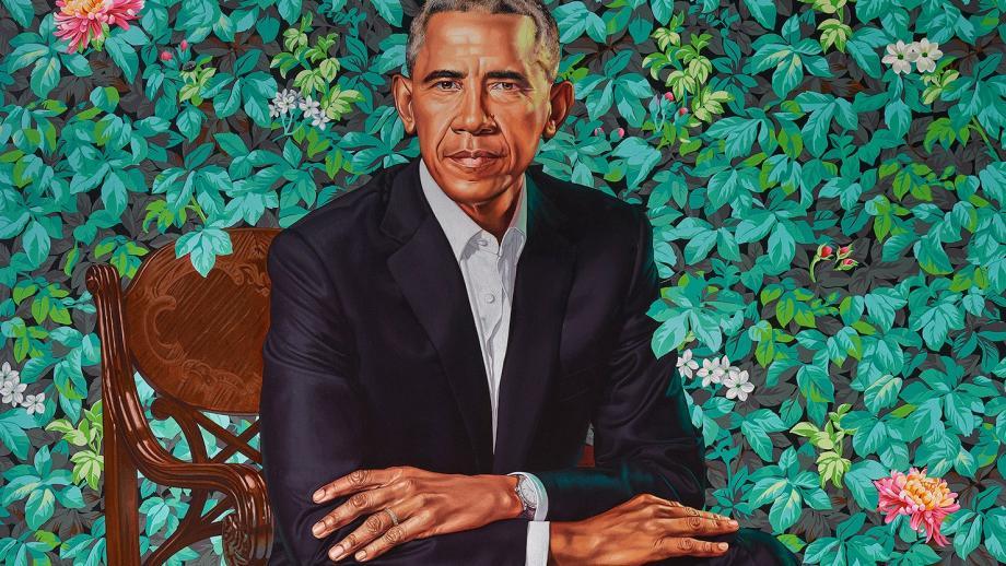 President Barack Obama (2018) van Kehinde Wiley