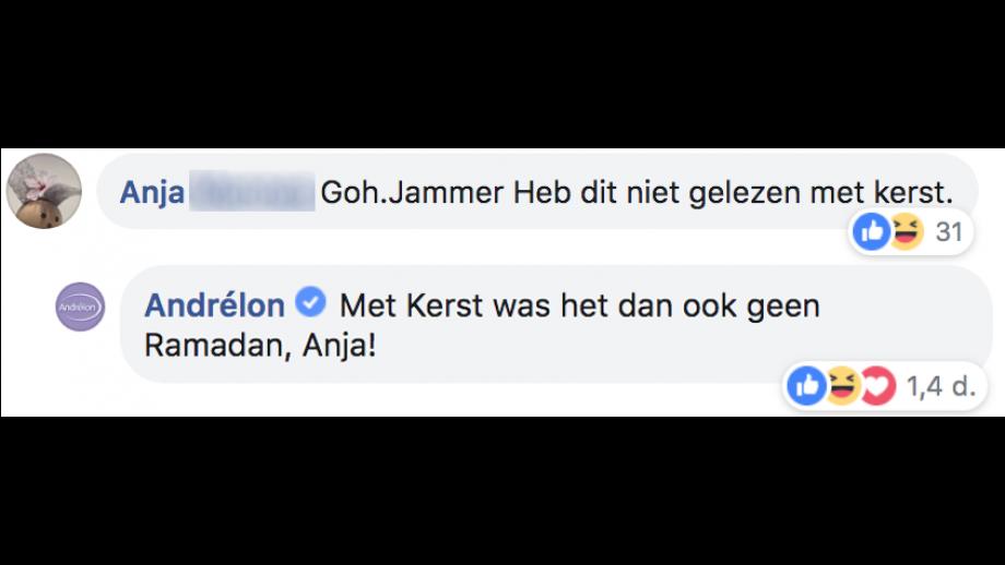 Andrelon reactie