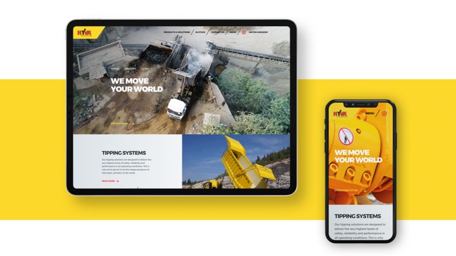 Beeld van de nieuwe website op mobile platforms. (Tablet en telefoon)