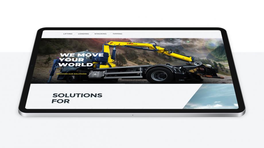 Weergave nieuwe website Hyva op tabet