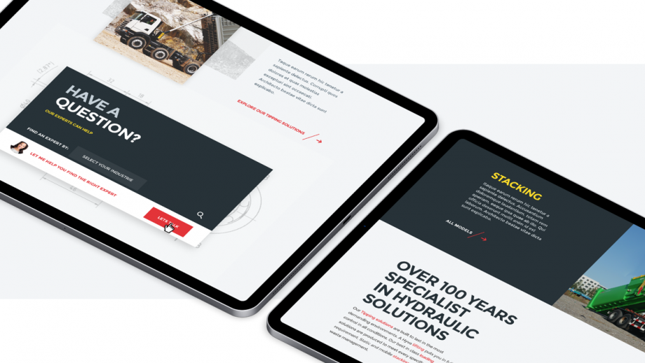 Weergave website Hyva (tablet)