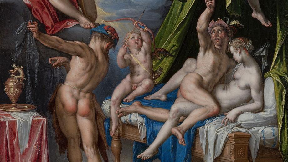 Afbeelding: Mars en Venus betrapt door Vulcanus, 1601