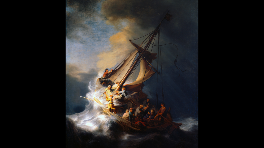 Christus in de storm op het meer van Galilea (1633)
