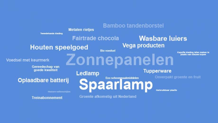 wordcloud duurzaamheid kenmerken