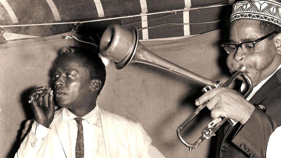 Miles Davis en Dizzie Gillespie