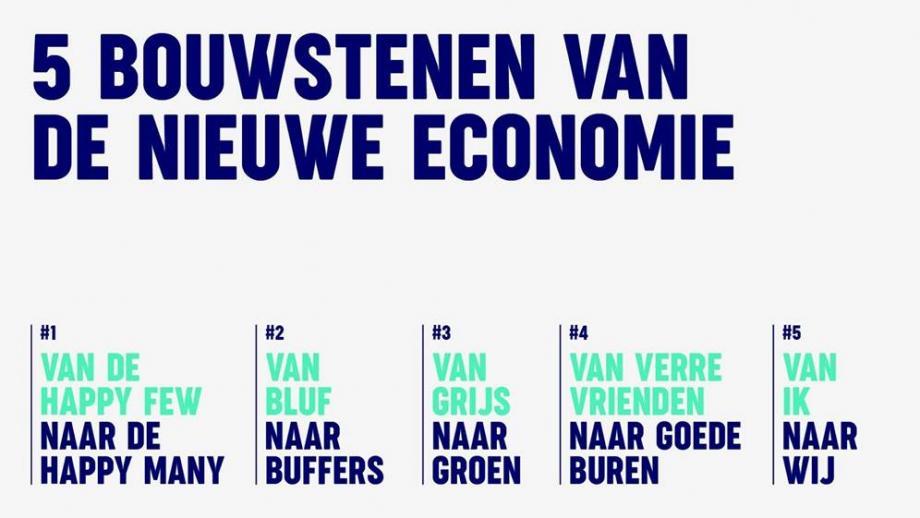 De vijf bouwstenen van de nieuwe economie