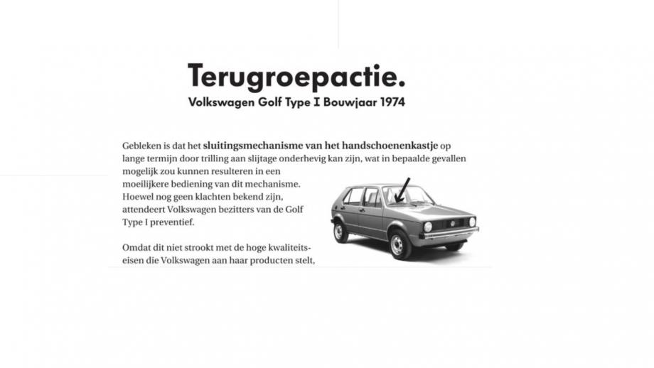 Terugroepactie VW 2007
